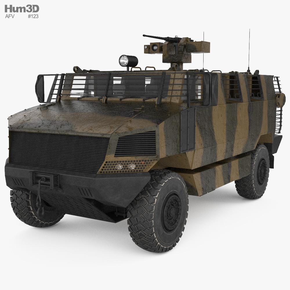 Golan MRAP Armored Vehicle 3d model