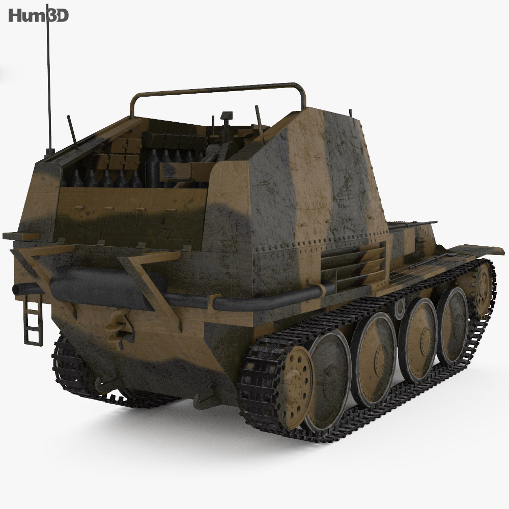 Grille Self-propelled Artillery 3d model