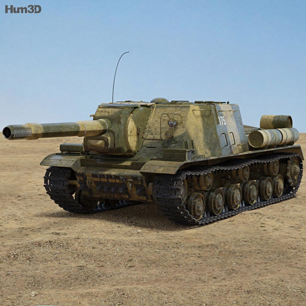 Discount Car Parts >> ISU-152 3D model - Hum3D