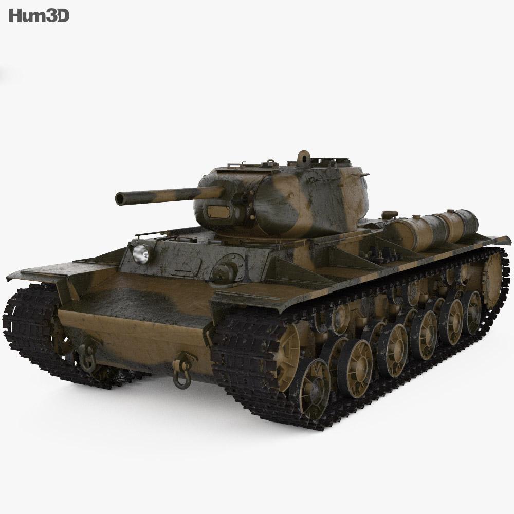 KV-1S 3d model