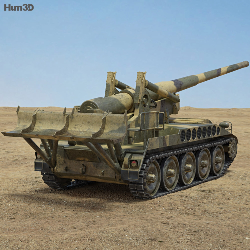 M107 self-propelled gun 3d model