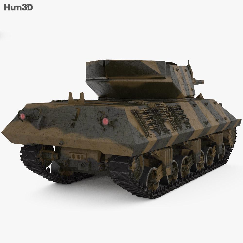 M10 Wolverine Tank Destroyer 3d model back view