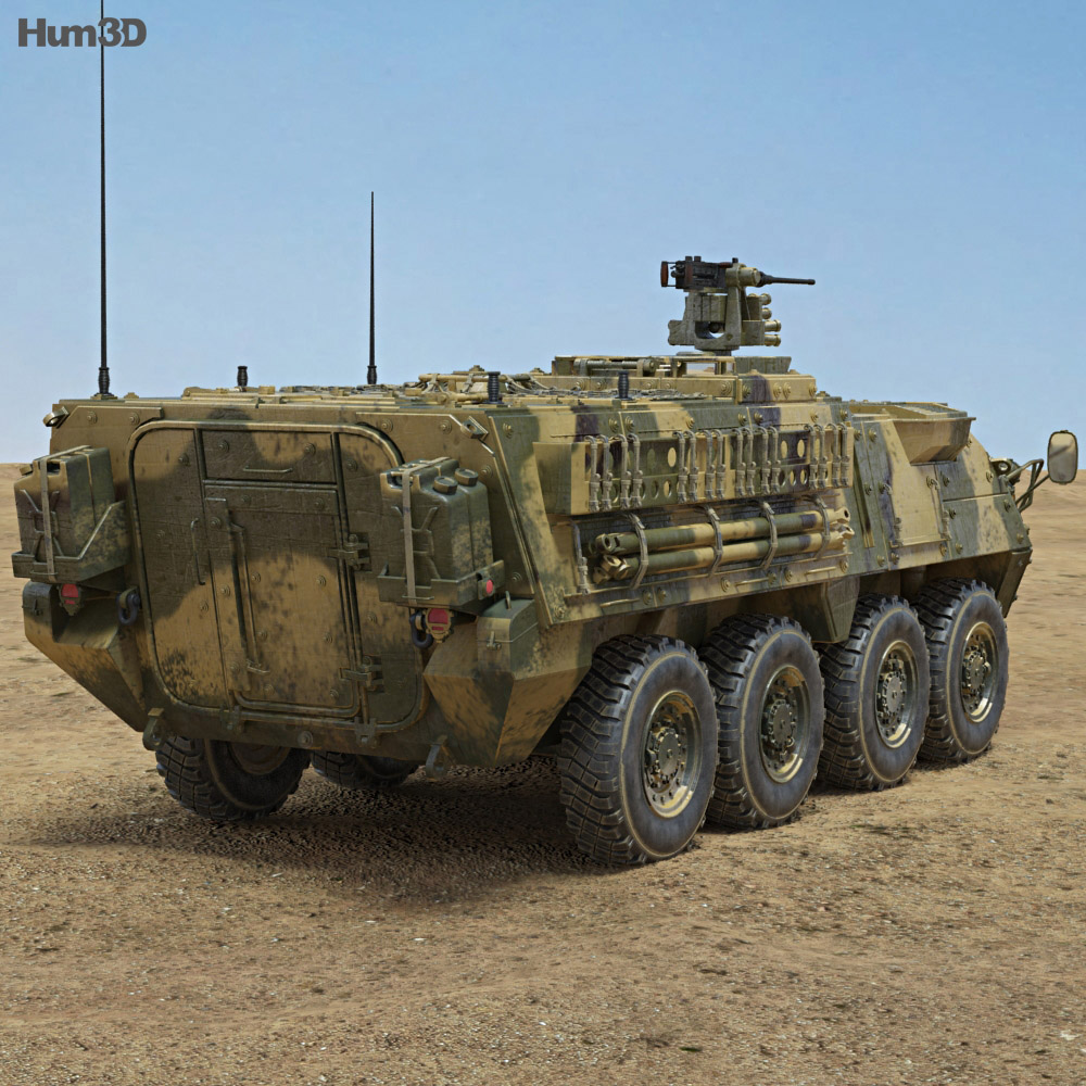 M1126 Stryker ICV 3d model