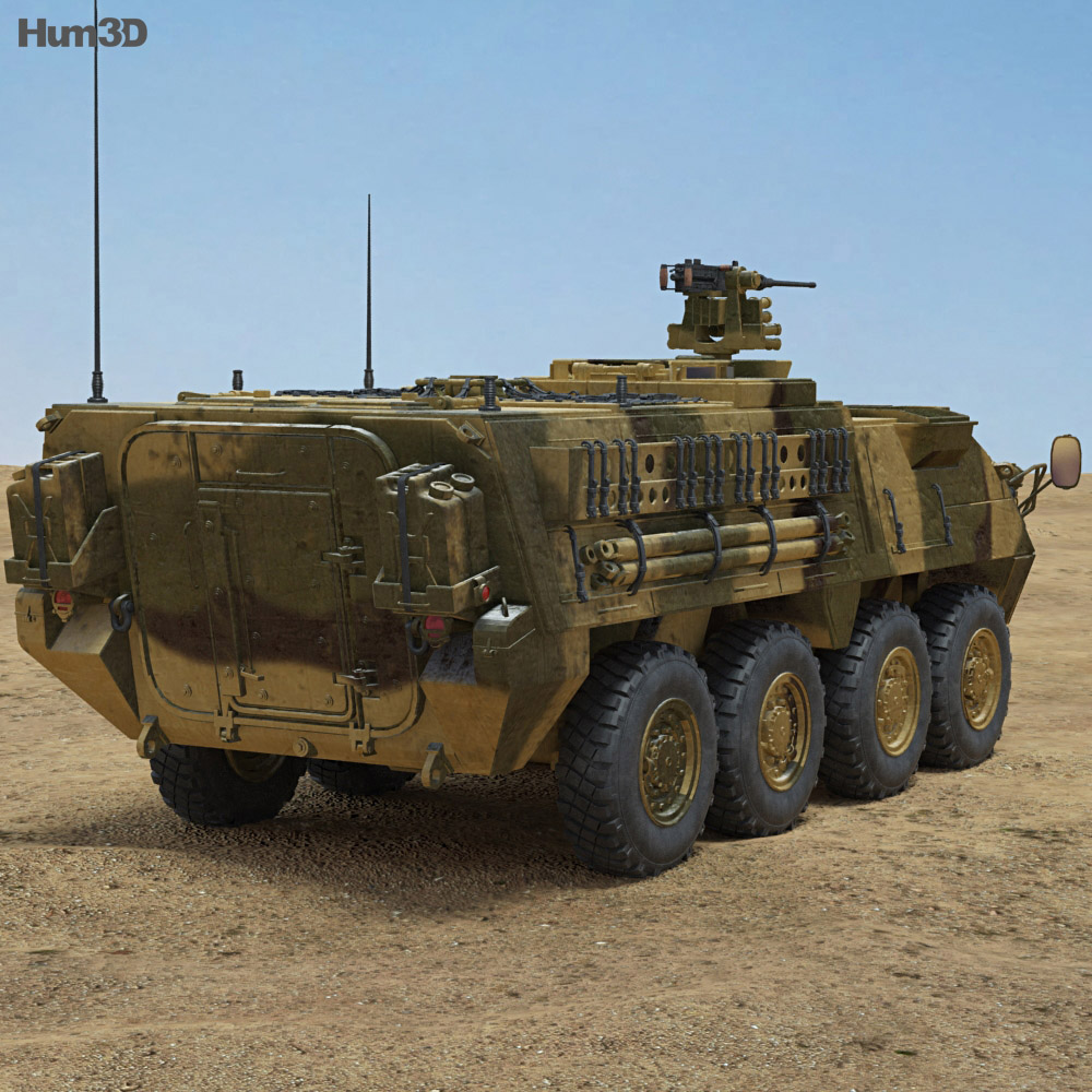 M1126 Stryker ICV with HQ interior 3d model