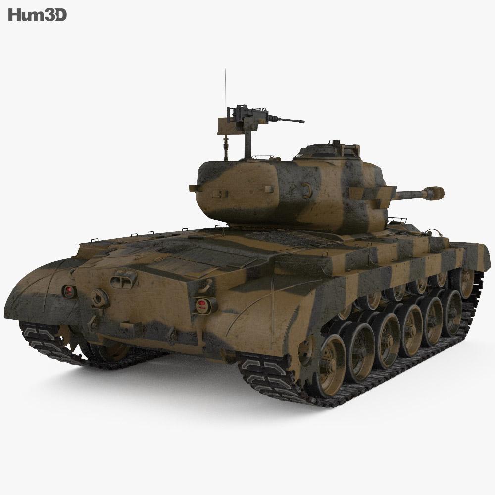 M26 Pershing 3d model
