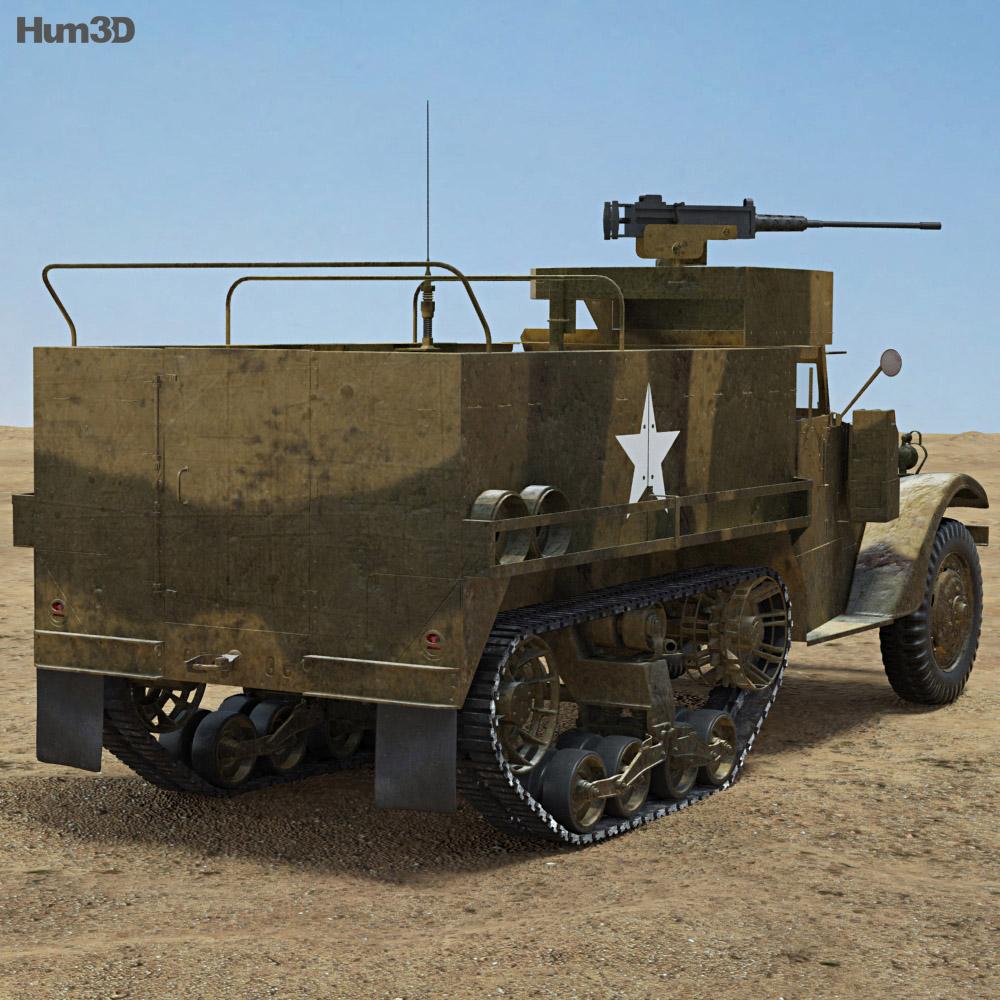 M3 Half-track 3d model