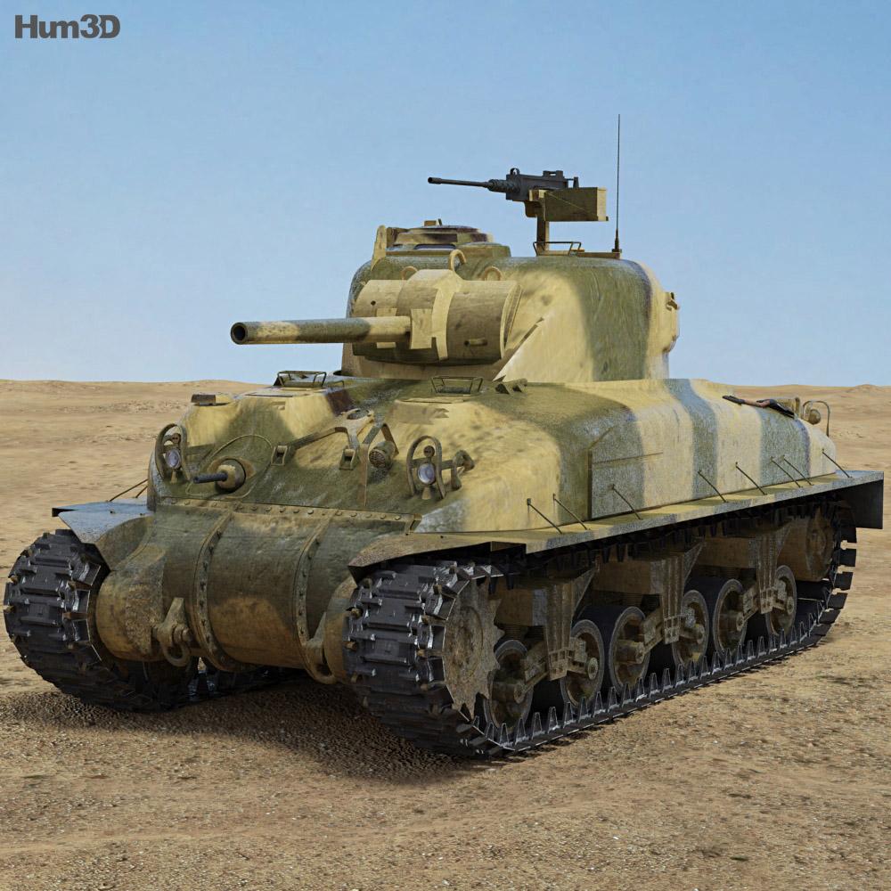 M4A1 Sherman 3d model