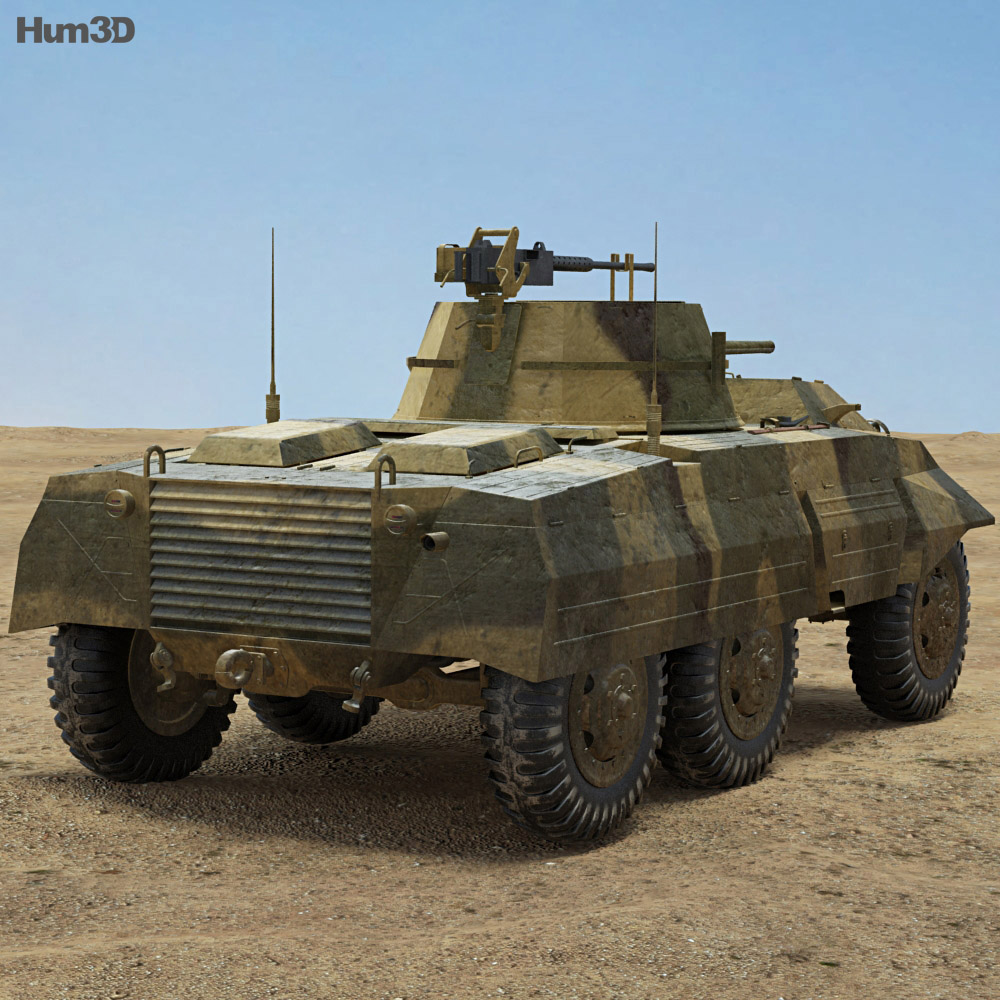 M8 Greyhound 3d model