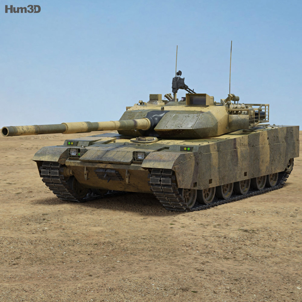 Discount Car Parts >> VT-4 (MBT-3000) 3D model - Hum3D