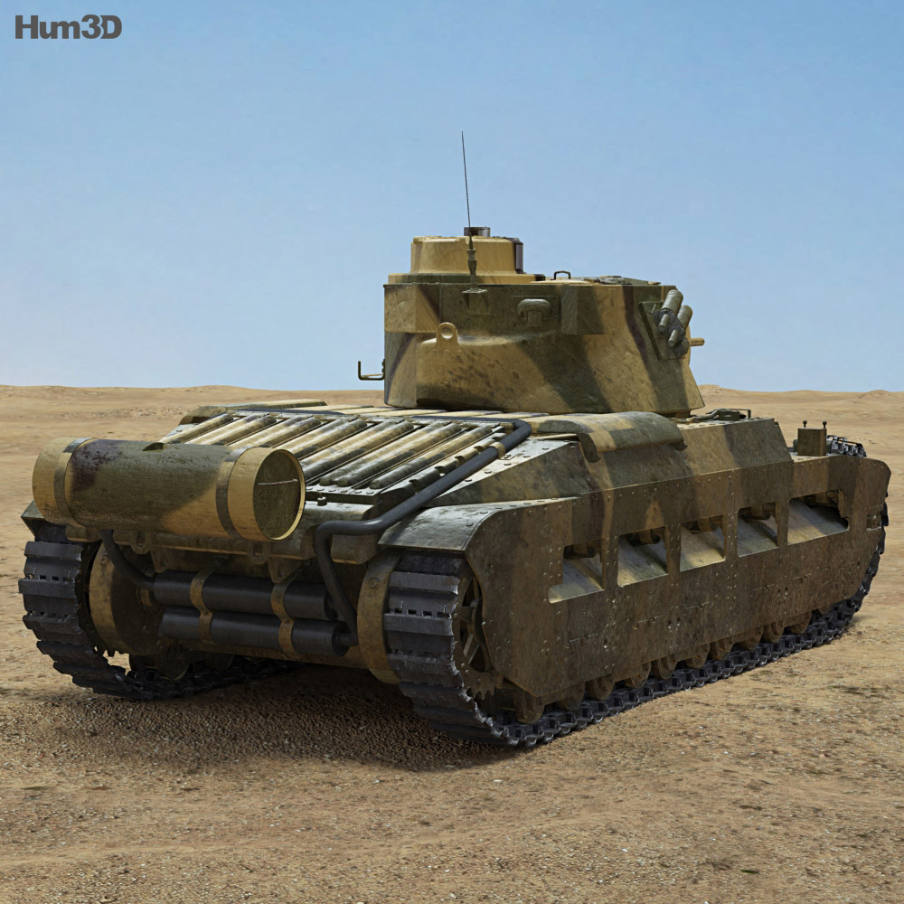 Matilda II 3d model