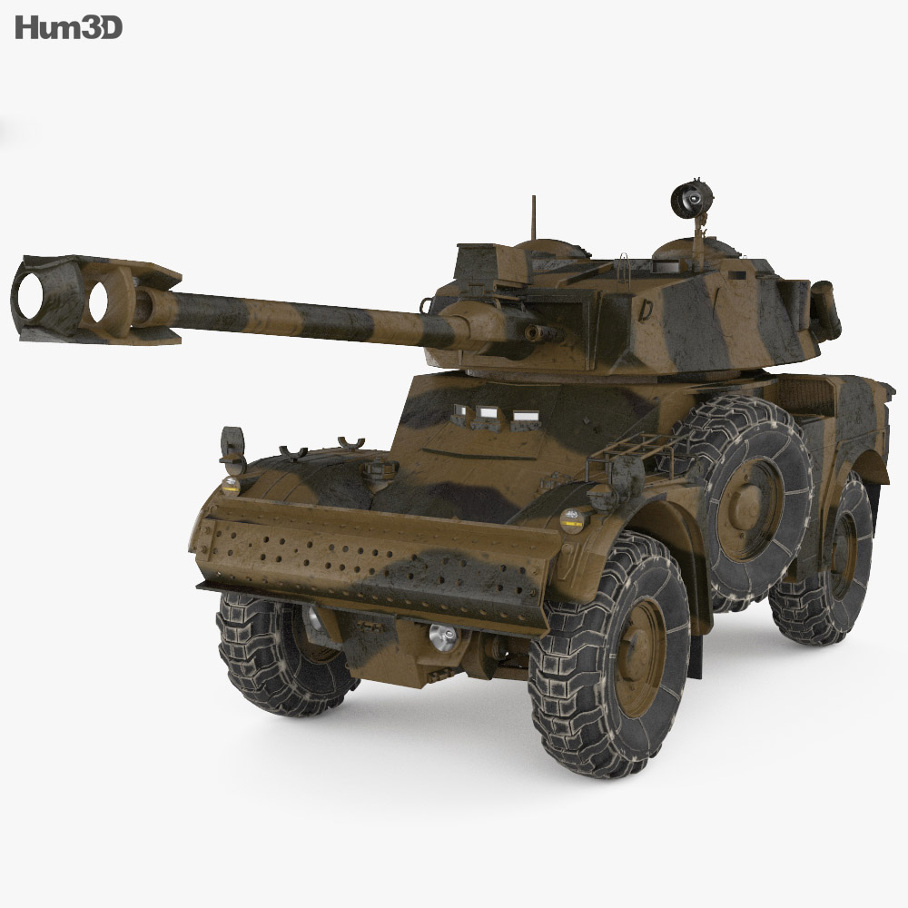 Panhard AML-90 3d model