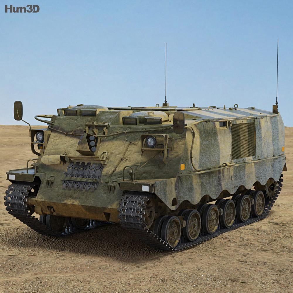 Pansarvarnsrobotbandvagn 551 (PvRbBv 551) 3d model