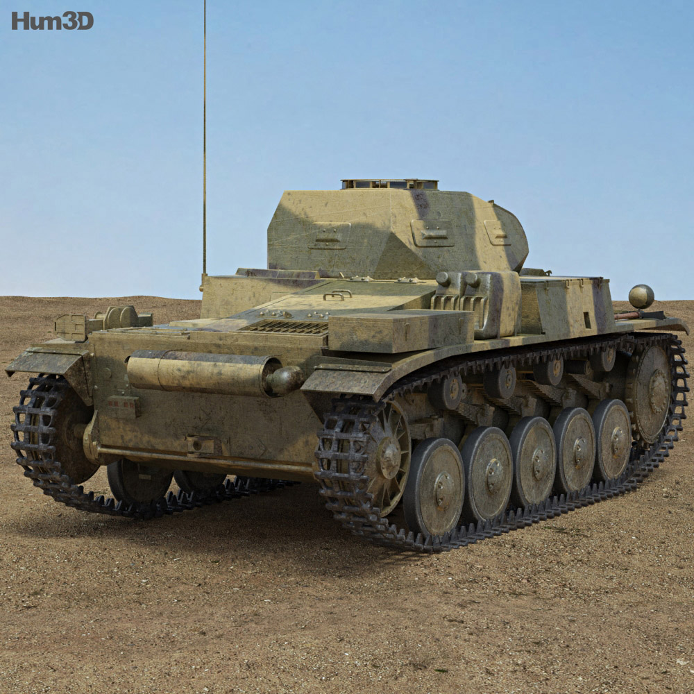 Panzer II 3d model