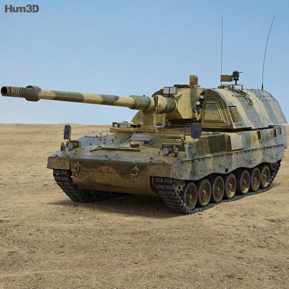 Panzerhaubitze 2000 3d model
