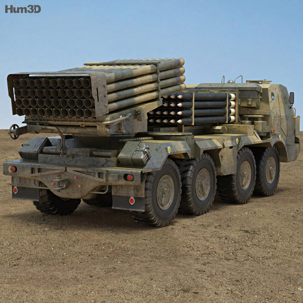RM-70 multiple rocket launcher 3d model