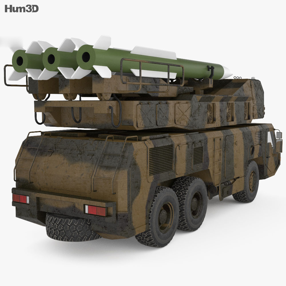 Raad air defence system 3d model