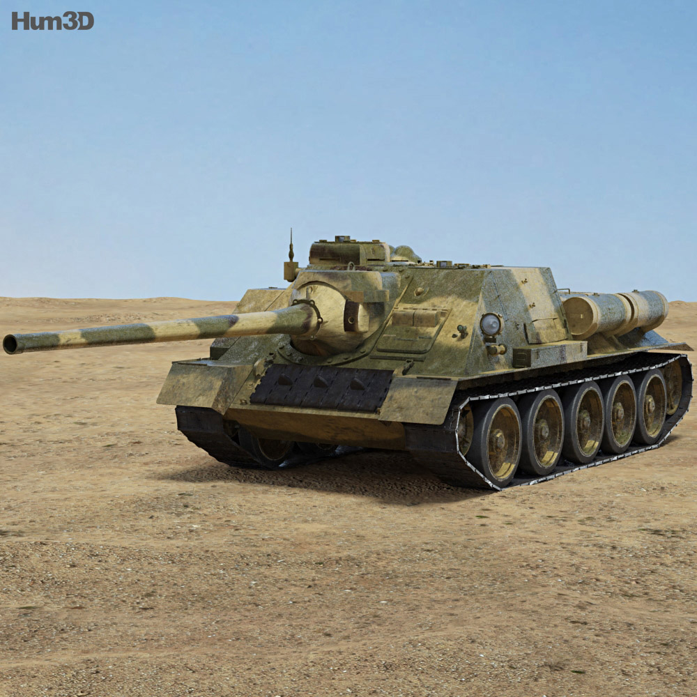 SU-100 3d model