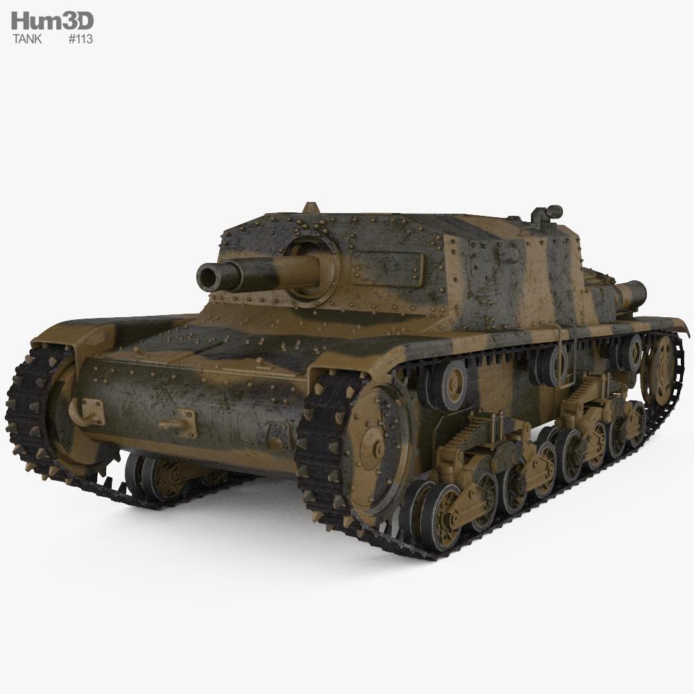 Semovente da 75/18 3d model
