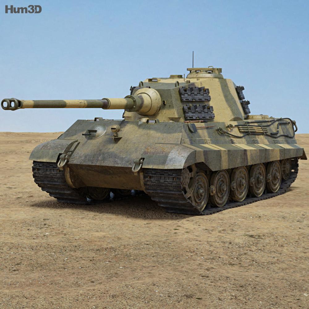 Tiger II 3d model