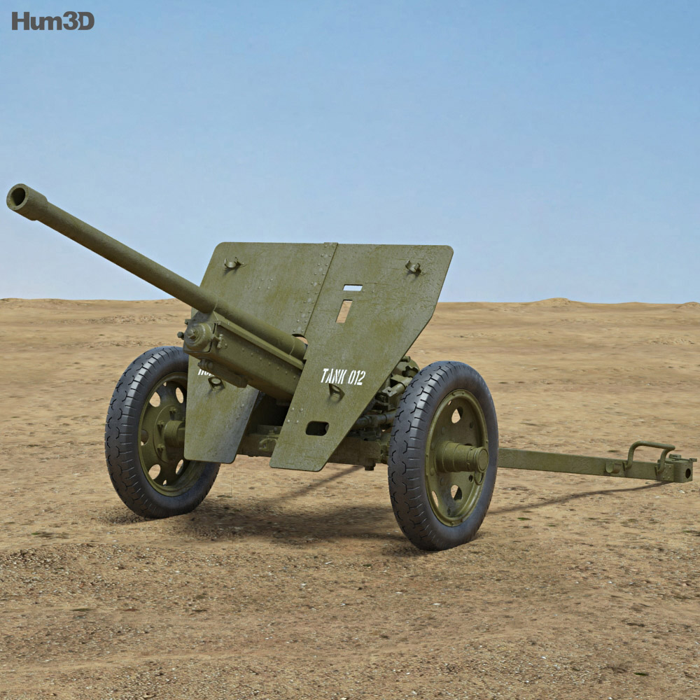 type 1 47 mm anti tank gun 3d model hum3d