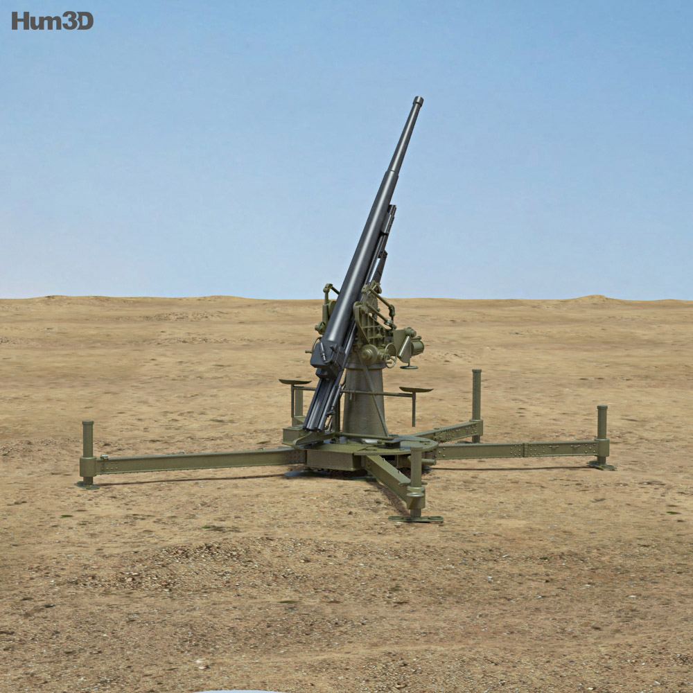 Type 88 75 mm AA Gun 3d model