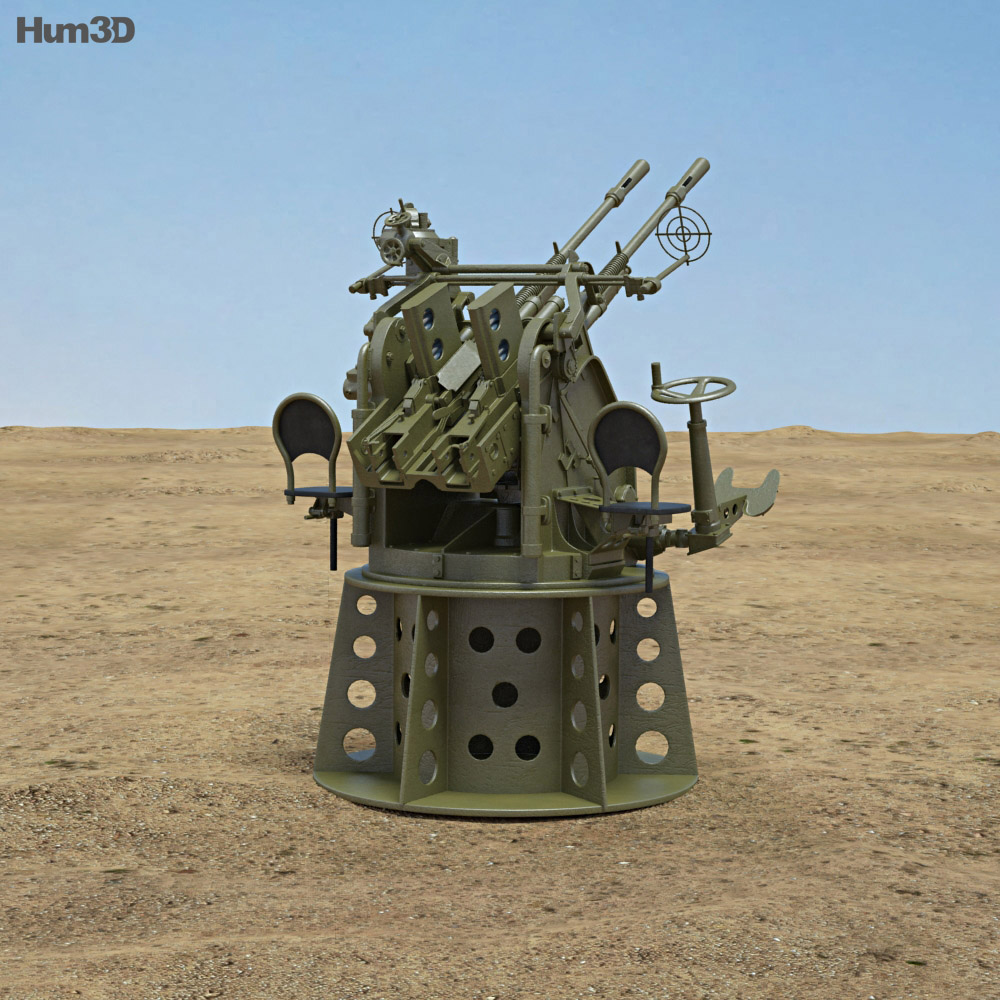 Type 96 25 mm AA Gun 3d model