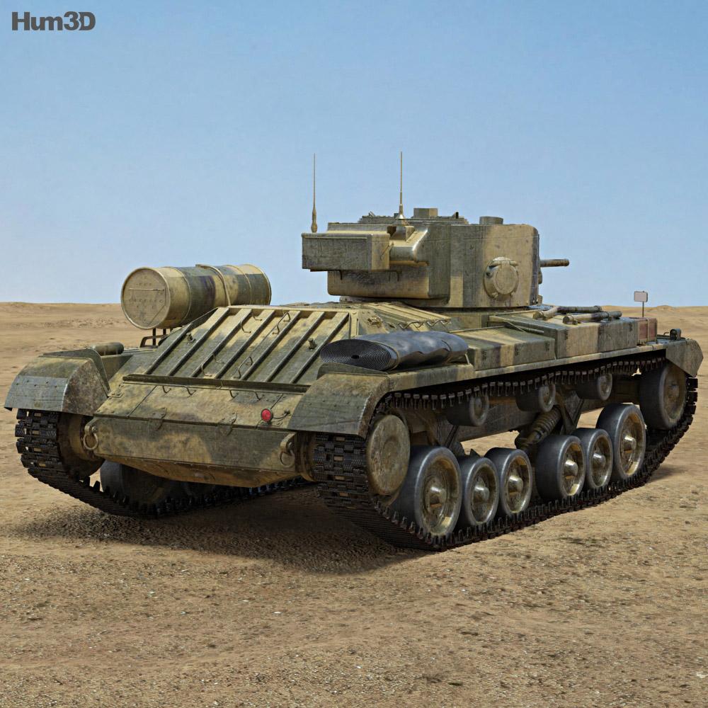 Valentine Mk III 3d model