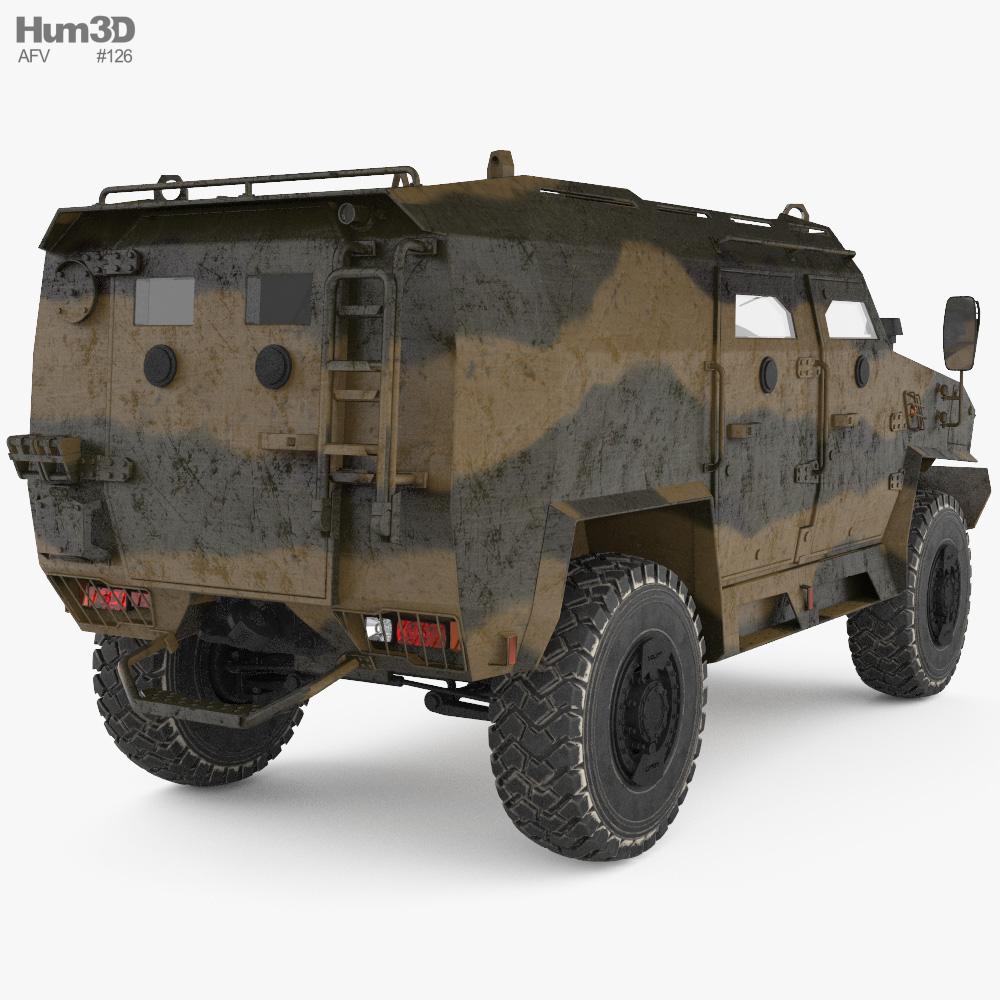 Volat V1 3D-Modell Rückansicht