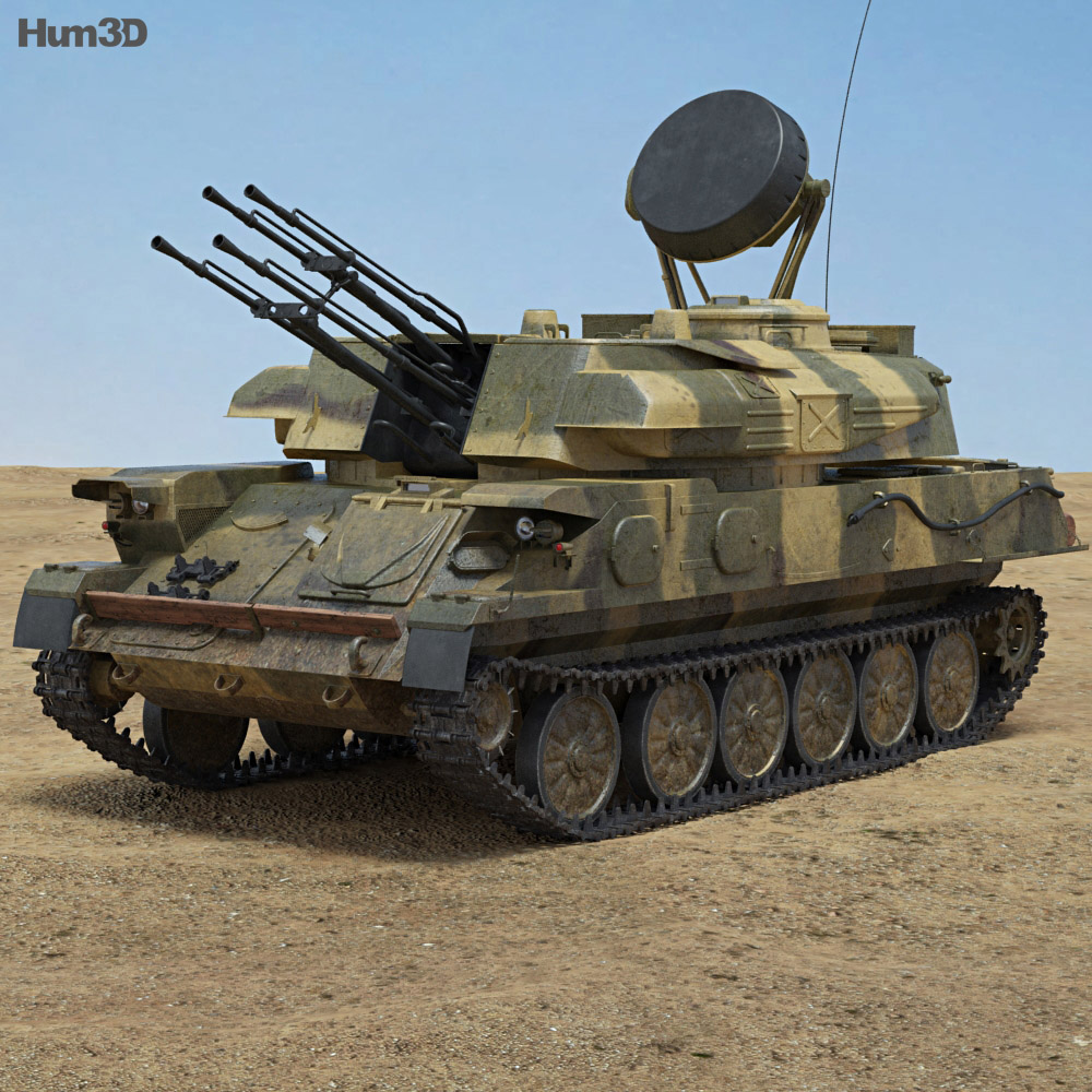 Discount Car Parts >> ZSU-23-4 Shilka 3D model - Hum3D