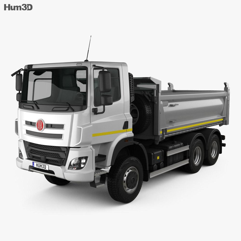 3D model of Tatra Phoenix T158 Tipper Truck 3-axle 2014