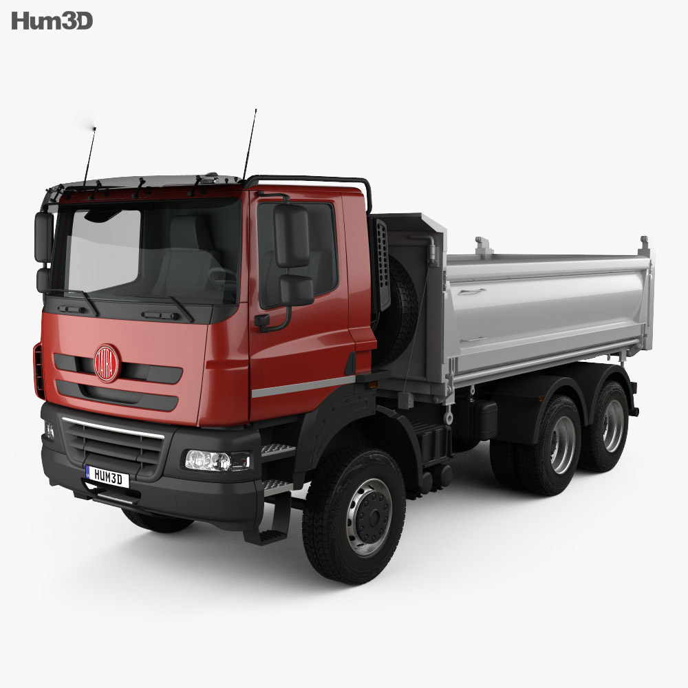 Tatra Phoenix Tipper Truck 3-axle 2011 3d model