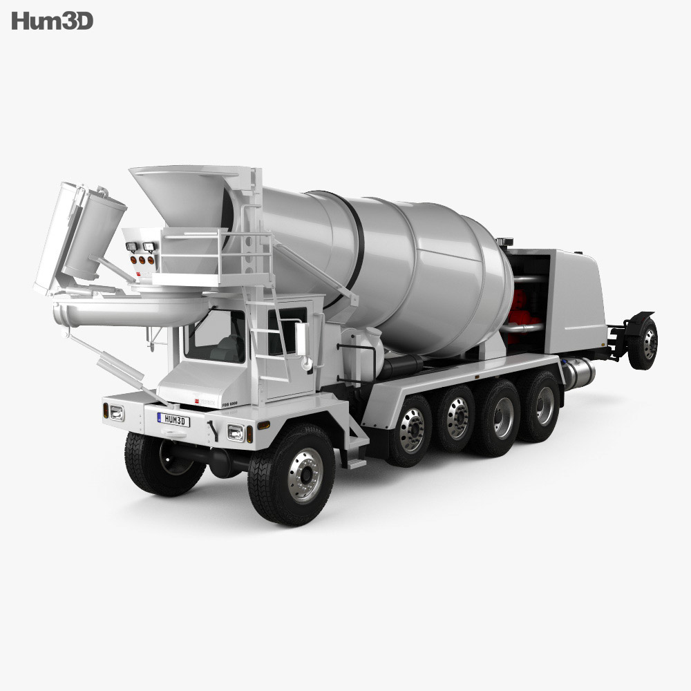 Terex FDB 6000 Mixer Truck 2018 3d model