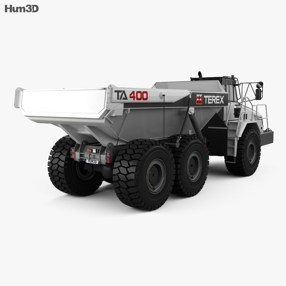 Terex TA400 Dump Truck 2011 3d model