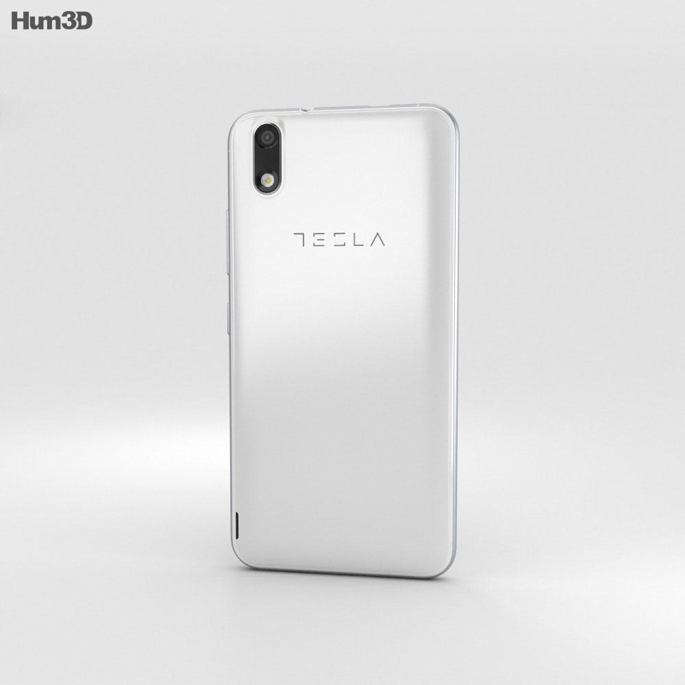 Tesla 6.1 Silver 3d model