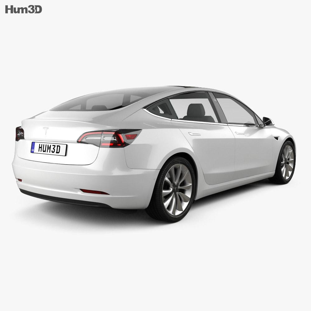 Tesla Model 3 2018 3d model