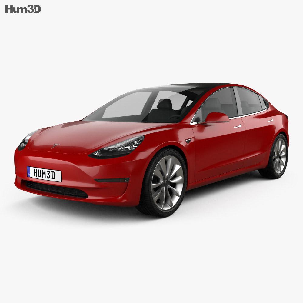 Tesla Model 3 Prototype 2016 3d model