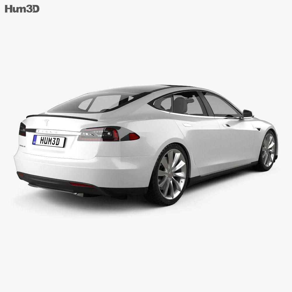 Tesla Model S 2012 3d model