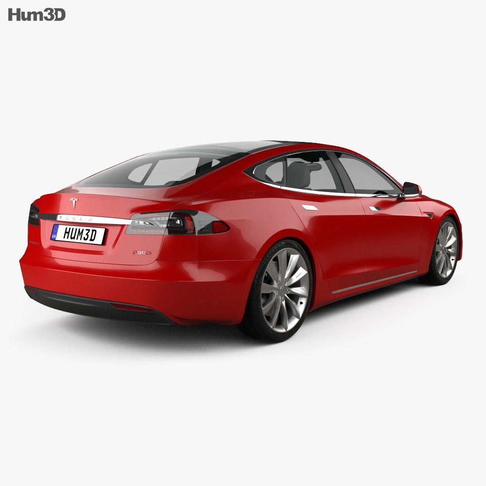 Tesla Model S P90D 2016 3d model