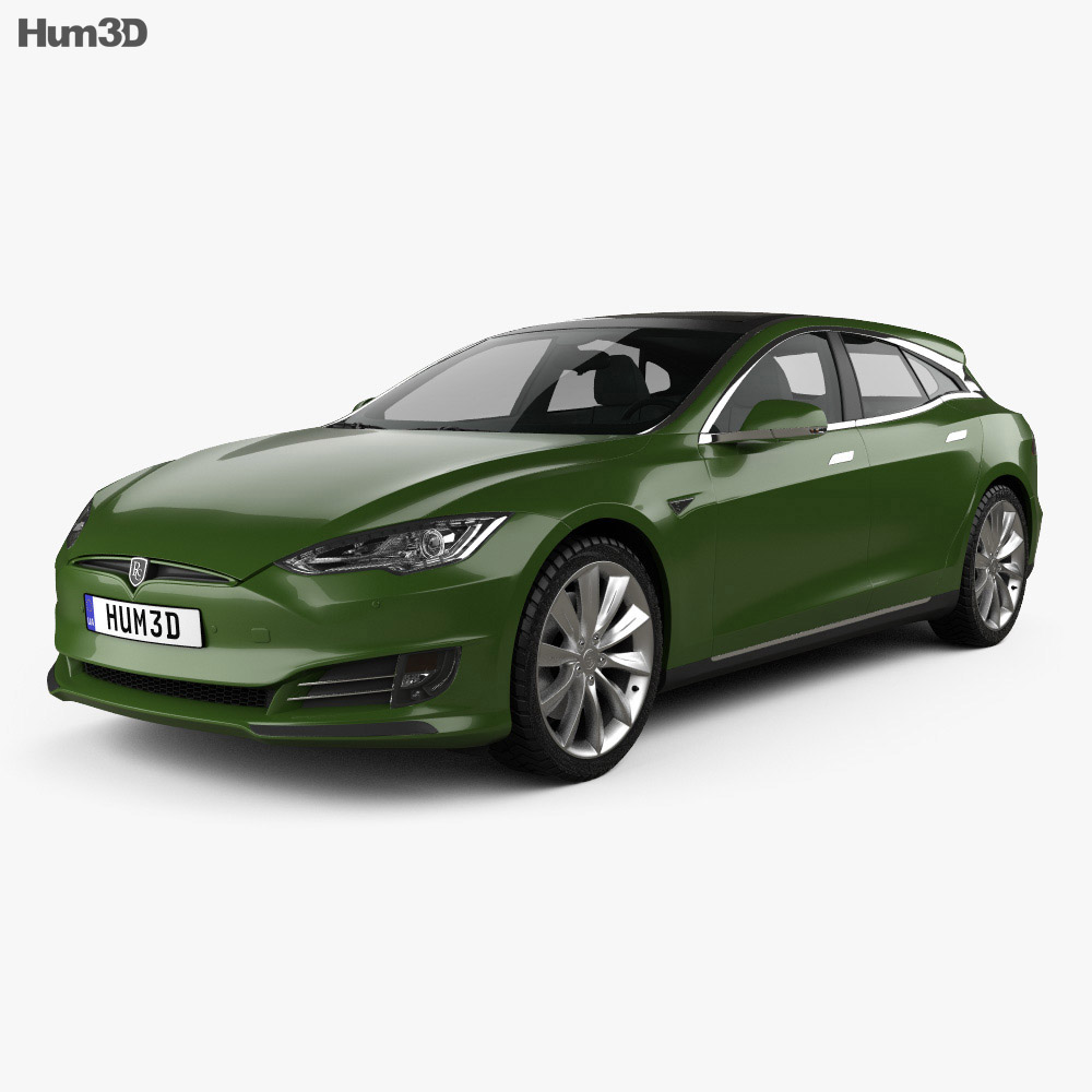 Tesla Model S Remetz Car Shooting Brake 2018 3d model