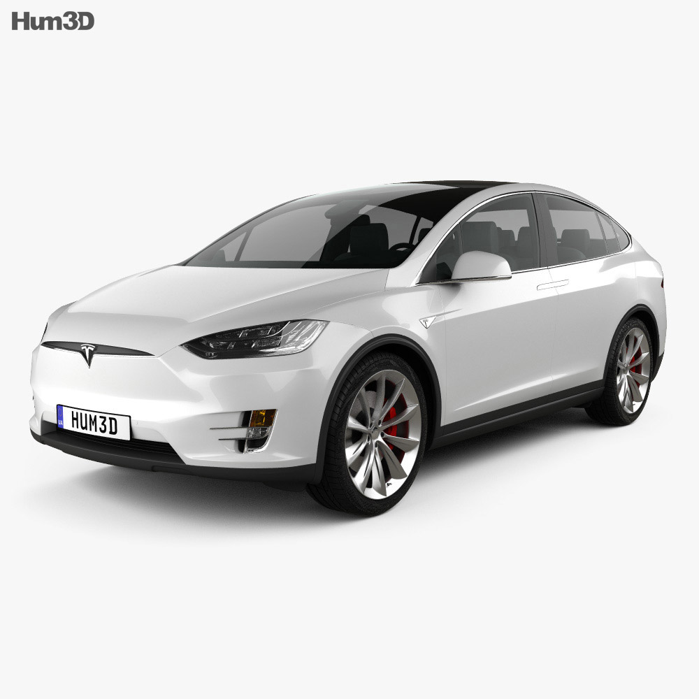 tesla model x 2016 3d model vehicles on hum3d. Black Bedroom Furniture Sets. Home Design Ideas