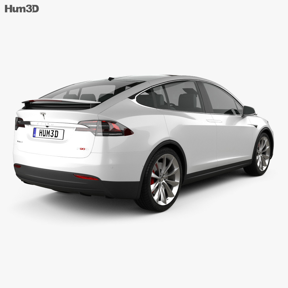 Tesla Model X 2016 3d model