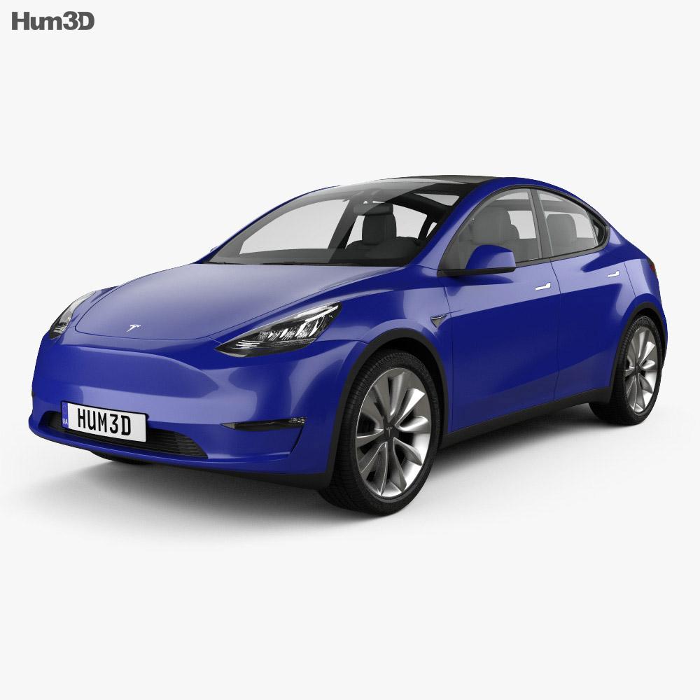 Tesla Model Y 2021 3d model