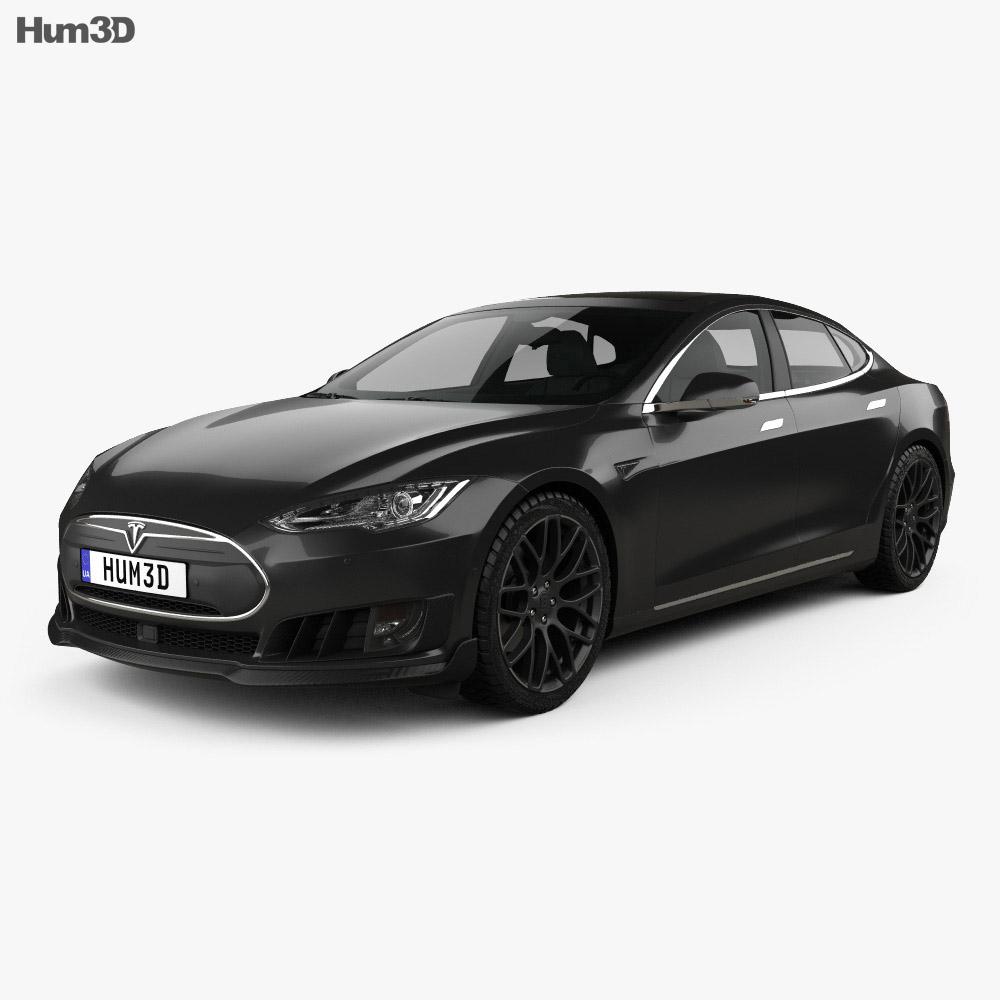 Tesla Model S Brabus 2016 3d model