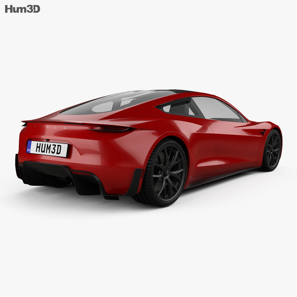 tesla roadster 2020 3d model vehicles on hum3d. Black Bedroom Furniture Sets. Home Design Ideas