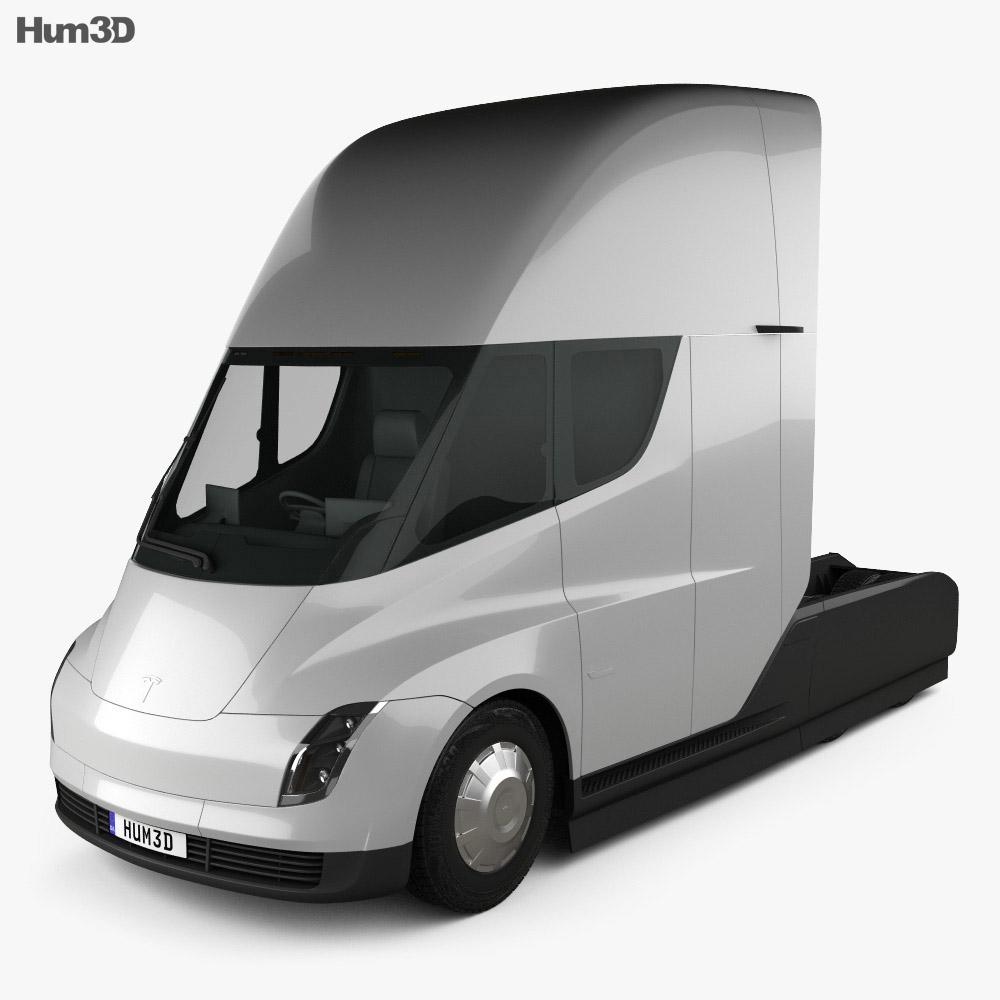 Tesla Semi Sleeper Cab Tractor Truck 2018 3d model