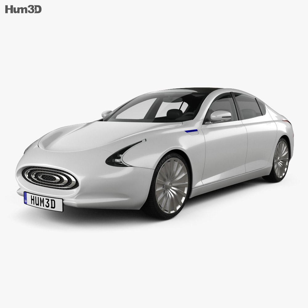 3D model of Thunder Power EV 2015