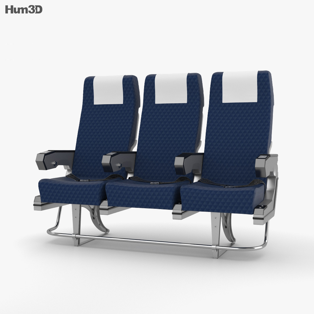 Airplane Seats 3d model