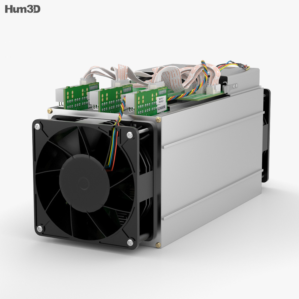 Antminer Cryptocurrency Mining Hardware 3d model