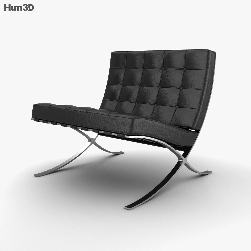 barcelona chair 3d model furniture on hum3d. Black Bedroom Furniture Sets. Home Design Ideas