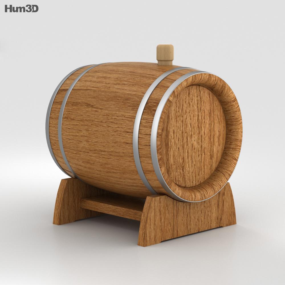 Barrel Beer 3d model